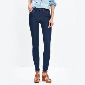 Madewell High Riser Skinny Jeans Dark Washed